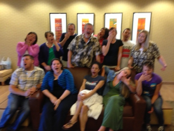 Uncle Orson's Literary Boot Camp, class of 2013. Yawning.