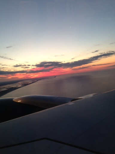 Sunrise coming into the landing at JFK.